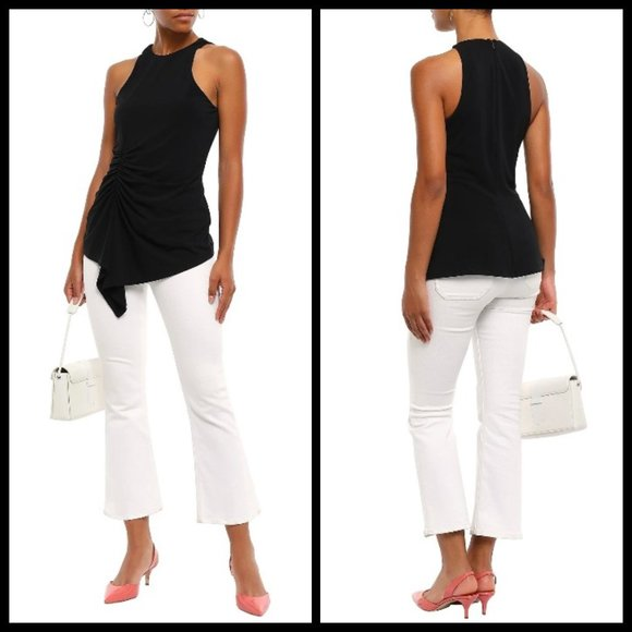 💕CINQ A SEPT💕 Priya Sleeveless Cinched Waist Top